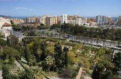 Malaga Spian Cityscape Day Stock Photography