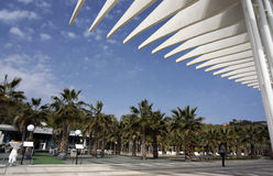 Malaga Spian Cityscapedag Arkivbilder