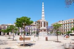 Malaga stad, Spanien Arkivbilder