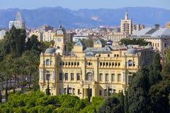 Malaga stadshus fotografering för bildbyråer