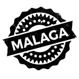 Malaga stamp rubber grunge Royalty Free Stock Photo