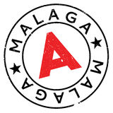 Malaga stamp rubber grunge Royalty Free Stock Images