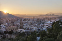 Malaga Sunset Royalty Free Stock Photos