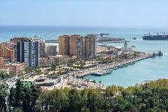 Malaga sur la Costa del Sol en Espagne images stock