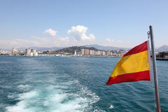 Malaga from a tour boat Royalty Free Stock Photography