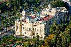 Malaga town hall, overview Royalty Free Stock Photos