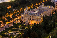 Malaga town hall, overview stock images