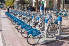 Malaga turystyka w bicyklu, Hiszpania Zdjęcie Royalty Free