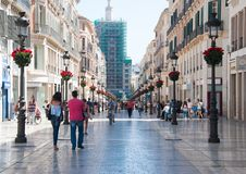 Malaga ulicy, Hiszpania Obraz Royalty Free