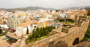 Malaga view. Alcazaba fortress in Malaga was built during the 11th century. Inside, you have beautiful views on the City Stock Images