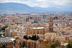 Malaga - View of the city. Malaga a View of the city Royalty Free Stock Images