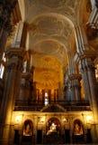 他MalagaSpagna大教堂的教堂中殿  免版税库存照片