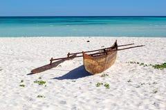 Malagasy βάρκα ψαράδων, Μαδαγασκάρη Στοκ Εικόνες