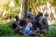 Malagasy στον αγώνα ποδοσφαίρου, Μαδαγασκάρη στοκ εικόνα