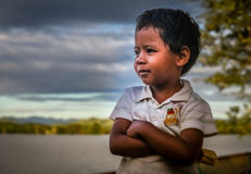 Malagasy boy portrait Stock Image