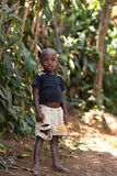 Malagasy boy in torn clothes Stock Images