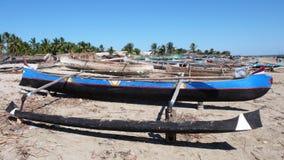Malagasy canoe. Madagascar Royalty Free Stock Photography