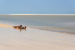 Malagasy children on the beach Royalty Free Stock Photography