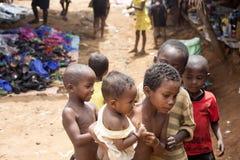 Malagasy children on the market, Antsohihy, Madagascar stock photos