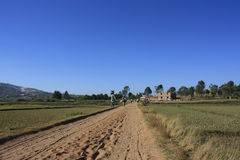 Malagasy Country Road Stock Photography