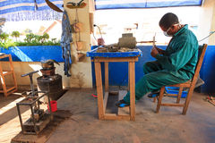 Malagasy craftsman Royalty Free Stock Images