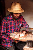 Malagasy craftsman Stock Photo
