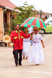 Malagasy dancers Stock Images