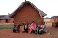 malagasy familj Fotografering för Bildbyråer