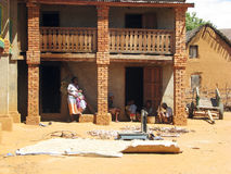 Malagasy family at the rural village Royalty Free Stock Photos