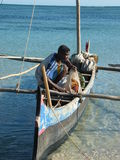 Malagasy Fisherman Royalty Free Stock Photography