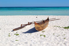 Malagasy fisherman boat, Madagascar Stock Images