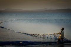 Malagasy fisherman Royalty Free Stock Photo