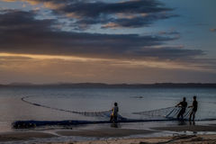 Malagasy fishermen Stock Images