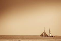 Malagasy fishing pirogue Stock Photography