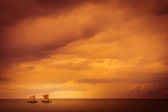 Malagasy fishing pirogues Stock Photos