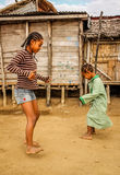 Malagasy girls playing Stock Photos