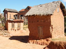 Malagasy highland house Royalty Free Stock Images