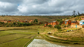 Malagasy homes Royalty Free Stock Images