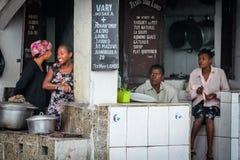 Malagasy market restaurant Stock Image