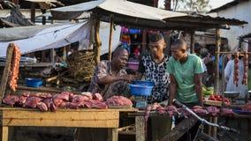 Malagasy market in Toliara, Madagascar Royalty Free Stock Image