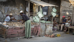 Malagasy market in Toliara, Madagascar Royalty Free Stock Photography