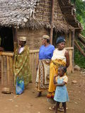 Malagasy native people. As I saw in one of the villages royalty free stock photo