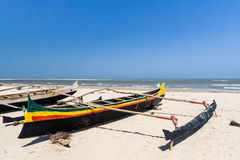 Malagasy outrigger canoes Stock Photo