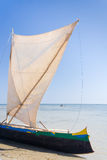 Malagasy outrigger pirogue Royalty Free Stock Photos
