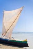 Malagasy outrigger pirogue Royalty Free Stock Photos