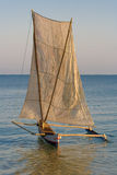 Malagasy outrigger pirogue Royalty Free Stock Photography