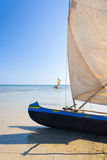 Malagasy outrigger pirogue Stock Image