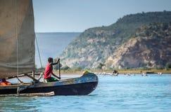 Malagasy paddler Stock Image