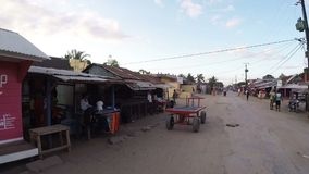 Malagasy peoples on street marketplace in Madagascar stock video footage