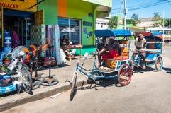 Malagasy rickshaws in Madagascar Royalty Free Stock Photos